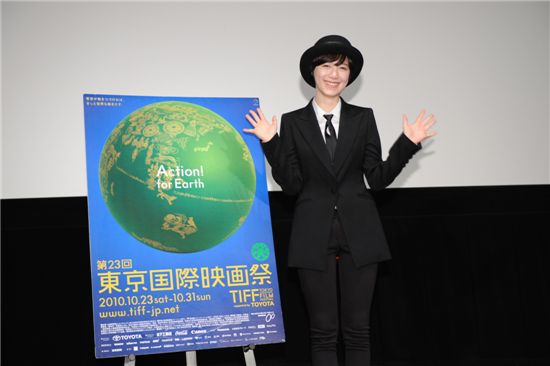 Korean actress Ku Hye-sun at the Tokyo International Film Festival [YG Entertainment]