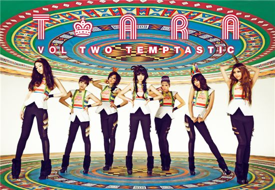 T-ara album jacket for second mini-album [Core Contents Media]
