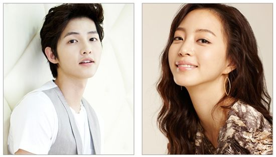 Actor Song Joong-ki (left) and actress Han Ye-seul [Filament Pictures]