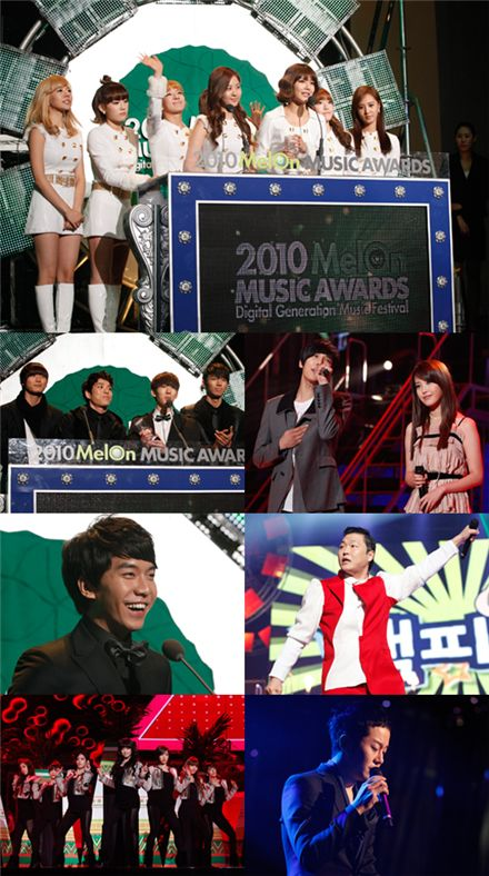"Winners of the ""2010 MelOn MUSIC AWARDS"""