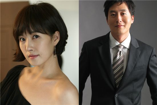 Actress Kim Suna (left) and actor Kim Ju-hyeok (right) [Trophy Entertainment/Namoo Actors]