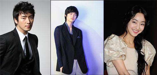 Actor Lee Jun-hyuk (left), Lee Jong-suk (middle) and actress Seo Hyo-rim (right)