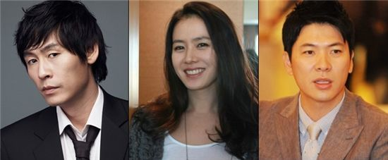 (From left to right) Sul Kyung-gu, Son Ye-jin and Kim Sang-kyung [CJ E&M]