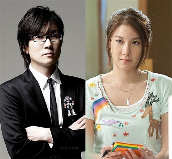 Seo Taiji (lef) and E Ji-ah [Seotaiji Company / KEYEAST]