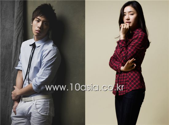 Boy band SHINee member Jonghyun (left) and actress Sin Se-gyeong [10Asia]