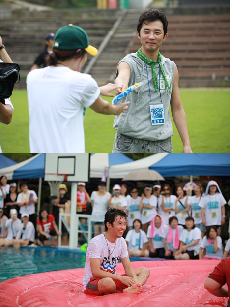 Ahn Jae-wook at his summer camp. [Jable Entertainment]
