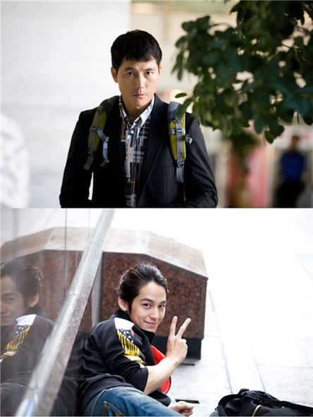 Jung Woo-sung (top) and Kim Beom [Baggat]