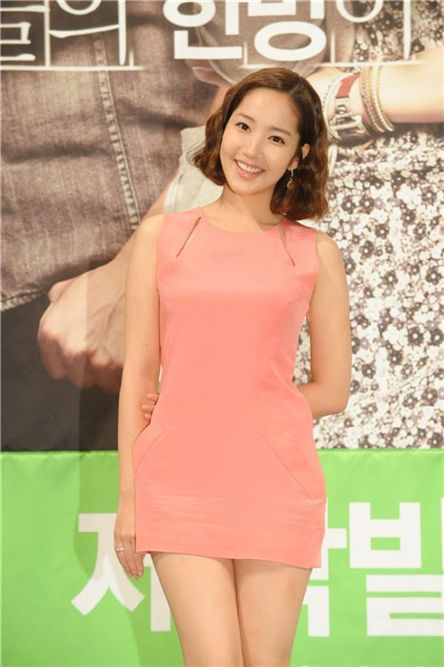 "Actress Park Min-young poses during the press conference for upcoming TV series ""Glory Jane"" held in Seoul, South Korea on October 5, 2011. [KBS]"