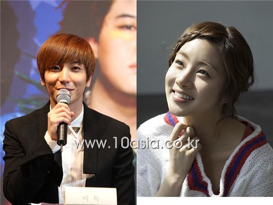 Lee Teuk (left) and Kang Sora [10Asia]