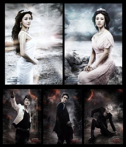 "Main cast of musical ""Das Musical ELISABETH"" [EMK Musical]"