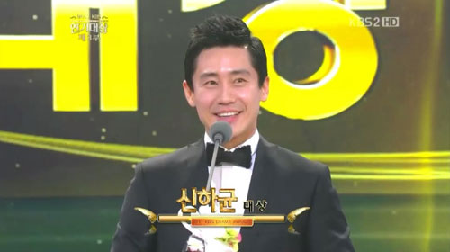 Actor Shin Ha-kyun during the 2011 KBS Drama Awards [KBS]