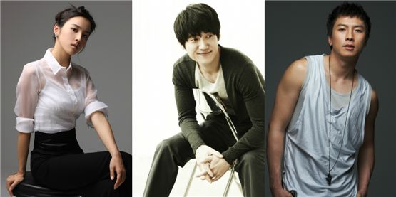 Han Hye-jin (left), Song Chang-eui (middle), Park Geon-hyeong [Namoo Actors/BOM Actors/Namoo Actors]