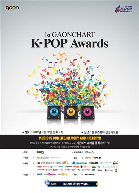 Poster for Gaon chart's K-Pop Awards [Gaon]