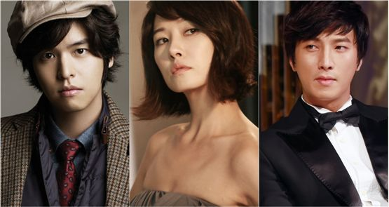 "Cast of ""I do, I do"" (tentative title) Lee Jang-woo (left), Kim Suna (center) and Park Gun-hyung (right) [3HW]"