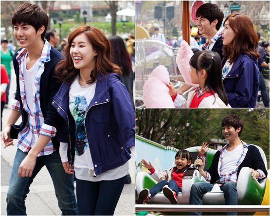"Kim Hyung-jun and Kim Yoon-seo shooting SBS Plus' series ""Late Blossom"" [SBS Plus]"