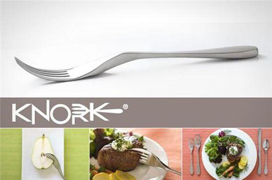 ▲나이프 겸용 포크 '노크(Knork)'.