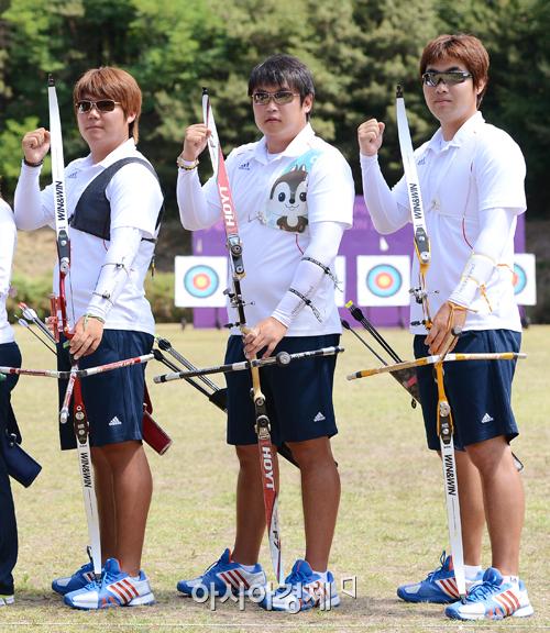 [올림픽]남자 양궁 단체, 준결승서 미국과 진검승부