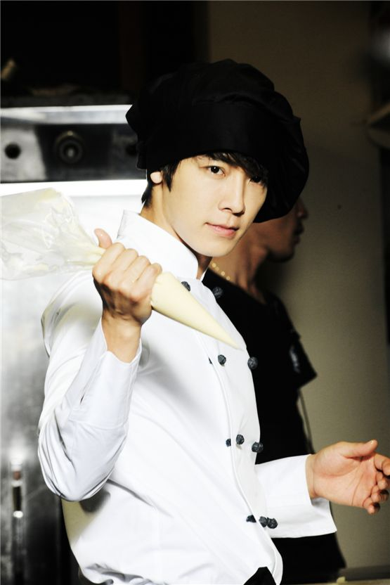 "A still shot of Donghae of boy band Super Junior poses for the camera on the set of Channel A's ""Miss Panda, Mr. Hedgehog"" in April, 2012. [Lionfish]"