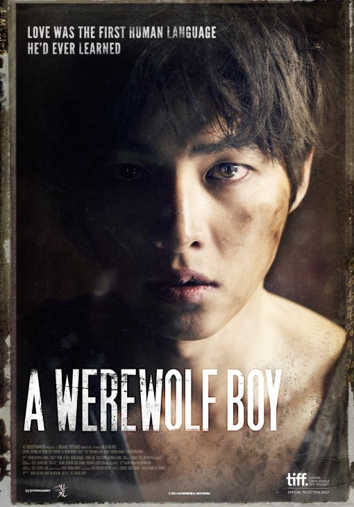 """Poster to Song Joong-ki's pic """"A Werewolf Boy"""" slated to be screened at the Toronto International Film Festival (TIFF) from September 6 to 16. [TIFF]"""