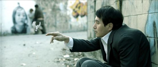 "Veteran actor Cho Jae-hyun plays a hunchback man in director Jeon Kyu-hwan's ""The Weight"" (2012), which won the Queer Lion Award at the 6th Queer Lion Awards ceremony held during the 2012 Venice International Film Festival, on September 7, 2012. [NEW]"