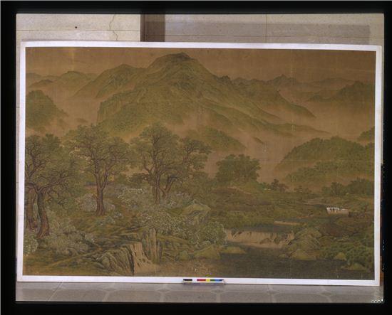 노수현의 '신록'(고려대학교 박물관 제공)