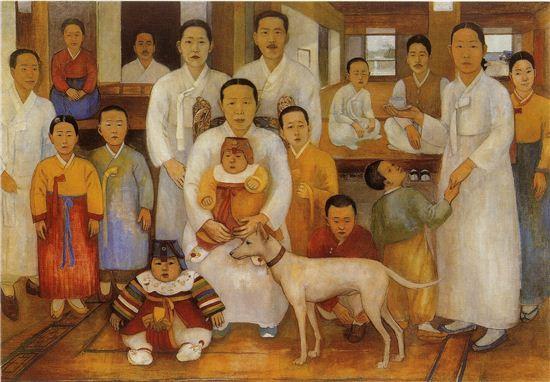 배운성의 '가족도'(문화재청 제공)