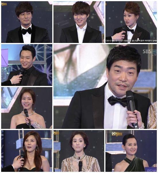 [SBS연기대상]손현주·장동건 등 10명··10대 스타상 수상