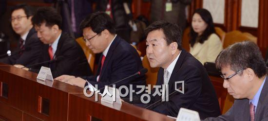 ▲물가관계차관회의 주재하는 신제윤 차관(오른쪽에서 두번째)