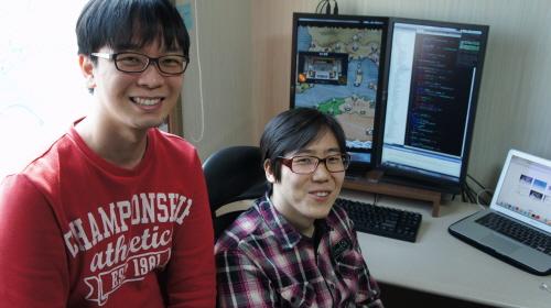 파이드파이퍼즈 임현호(사진 왼쪽) 기획자와 김주명 프로그래머.