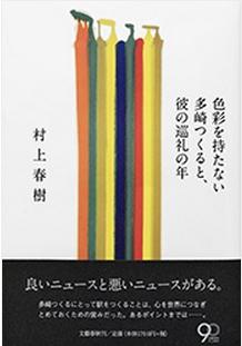 ▲무라카미 하루키의 신작 '색채가 없는 다사키 쓰쿠루와 그의 순례의 해'(출처: 출판사 문예춘추 홈페이지)