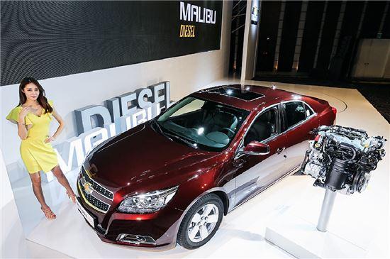 한국GM, 국산 첫 디젤 중형세단 말리부 디젤 출시 - 아시아경제