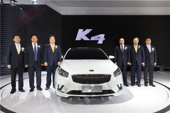 [2014베이징모터쇼]기아차, K4 콘셉트카 최초 공개 - 아시아경제