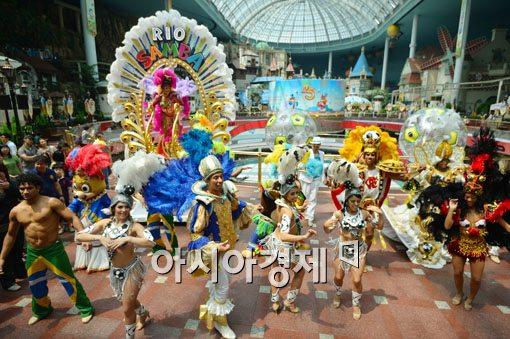 브라질 문화공간 '기쁨의 학교'에서는 매주 브라질의 문화를 느낄 수 있는 공연을 하고 있다. 매월 셋째주에는 브라질 삼바합창단이 공연을 하고 삼바 춤을 추기도 한다.[사진=백소아 기자]