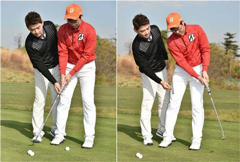 박광현씨는 <사진1>(왼쪽)과 <사진2>처럼 스트로크의 크기로 거리를 조절한다.