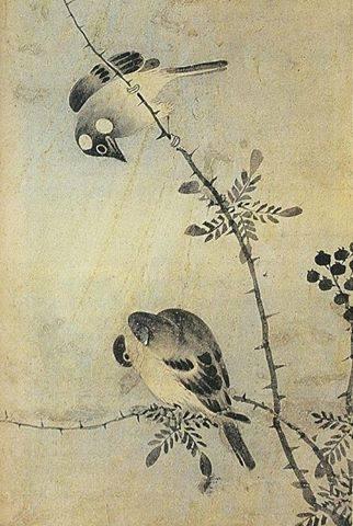 김정의 '조도(鳥圖, 새)'