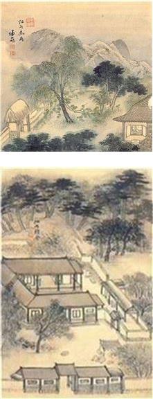 겸재 정선의 '인곡유거(仁谷幽居)' '인곡정사(仁谷精舍)'
