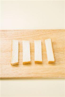 1. 식빵은 세로로 4등분한다.