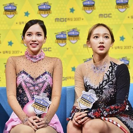 트와이스 미나, 우주소녀 성소. 사진=MBC '아육대' 제공