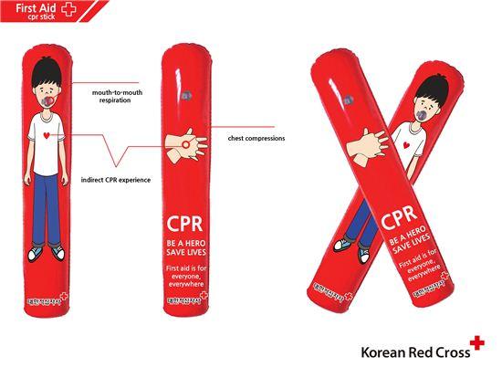세계응급처치의 날에 진행한 'CPR 스틱' 캠페인/ 사진='아이디엇' 제공