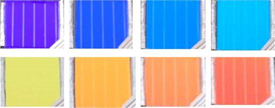 ▲이번에 개발된 태양전지는 다양한 색을 연출할 수 있다.[사진제공=KIST]