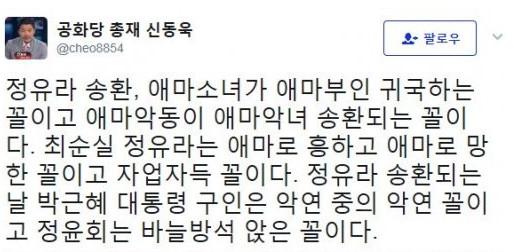 사진=신동욱 트위터 캡처