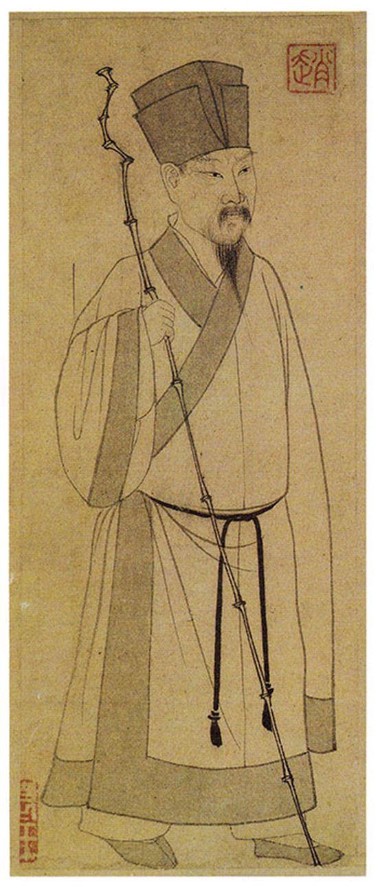 원나라 조맹부(1254-1322)가 그린 소동파. 타이베이 고궁박물원 소장.