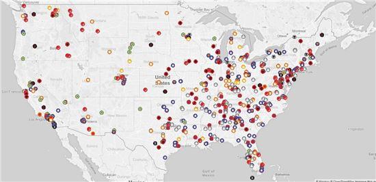 미국에 분포한 증오단체들(SPLC)