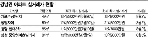 8·2 대책 후 2억 뛴 타워팰리스…이상한 강남 집값