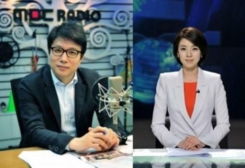 신동호 국장, 배현진 앵커/사진=MBC
