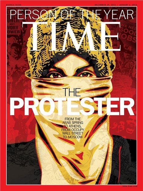 2011년 당시 타임지 표지에 나왔던 '아랍의 봄' 시위자들(사진=위키피디아)