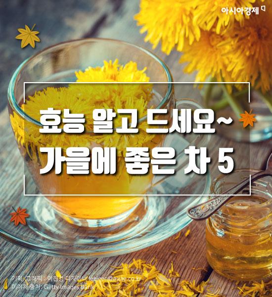 [카드뉴스]효능 알고 드세요~ 가을에 좋은 차 5