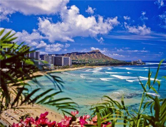 익스피디아 제공. 하와이 와이키키 해변