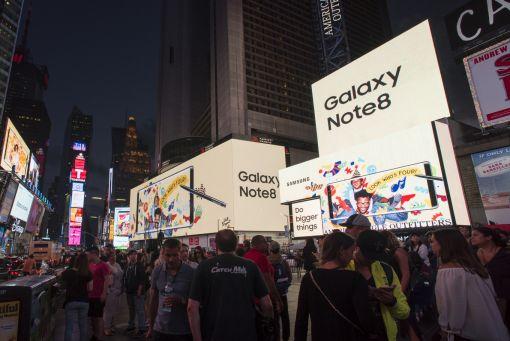 갤럭시노트8 옥외광고 미국 뉴욕 타임스퀘어