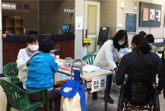 독감예방 접종